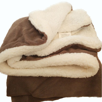 小毛毯儿童毯沙发办公室午休盖毯仿羊羔绒珊瑚绒法兰绒双层加厚毯