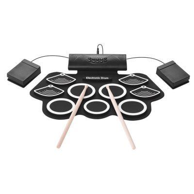 手卷电子鼓 9鼓内置锂电池 带喇叭可玩DTX 硅胶架子鼓