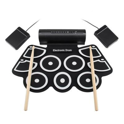 SSR打击乐器MD760 加厚硅胶手卷架子鼓 爵士鼓 USB电子鼓