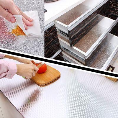 厨房防油贴纸耐高温防火灶台橱柜柜子桌面家具翻新防水墙纸自粘