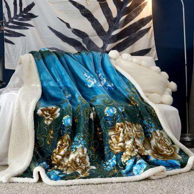双层加厚羊羔绒毯法兰绒珊瑚绒办公室午睡毯盖腿毯小毛毯沙发盖毯