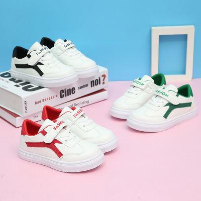 阿帝卡森春秋新款韩版透气休闲童鞋男童板鞋女童白色运动鞋小白鞋