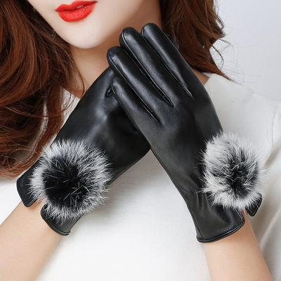 手套女学生韩版冬季加绒保暖手套女士骑车防寒触屏休闲手套