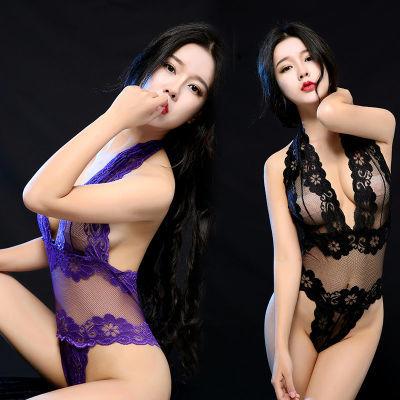 成人性感女士情趣连体内衣内裤薄款蕾丝网纱透视套装极度诱惑sm骚
