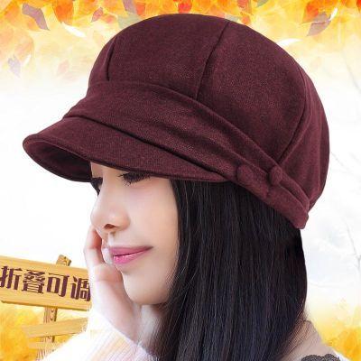 冬季时尚女帽子中年春秋季八角帽秋冬新款鸭舌帽贝雷帽女冒子英伦