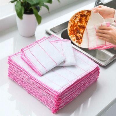 【热销130万件】洗碗布不沾油加厚不掉毛抹布洗碗巾百洁布