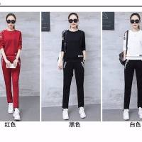 2018秋季韩版长袖卫衣+长裤两件套女休闲时尚运动套装女装