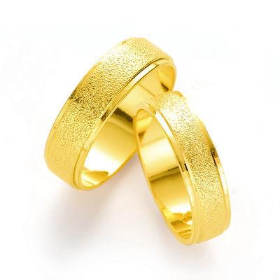 包邮欧币越南沙金饰品磨砂金戒指情侣指环男女时尚新款对戒尾戒