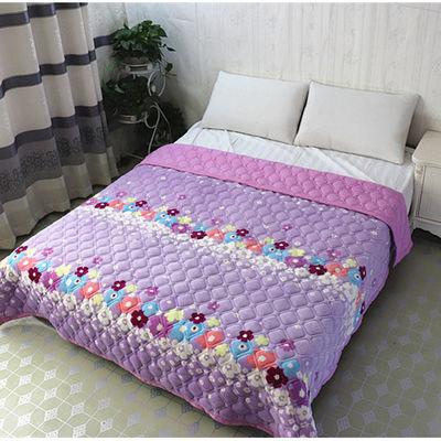 抱枕毯纯棉单子毛巾被儿童婴床可爱围女学生加绒人裙头珊瑚双婚庆