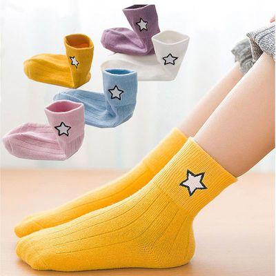 【5双品质装】儿童袜子秋冬季男女宝宝童袜中大童小孩婴儿中筒袜