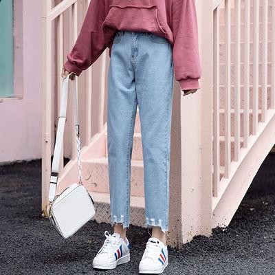灯笼裤女西装直筒学生长夏宽松牛仔短五分裙款子韩版休闲运动大码