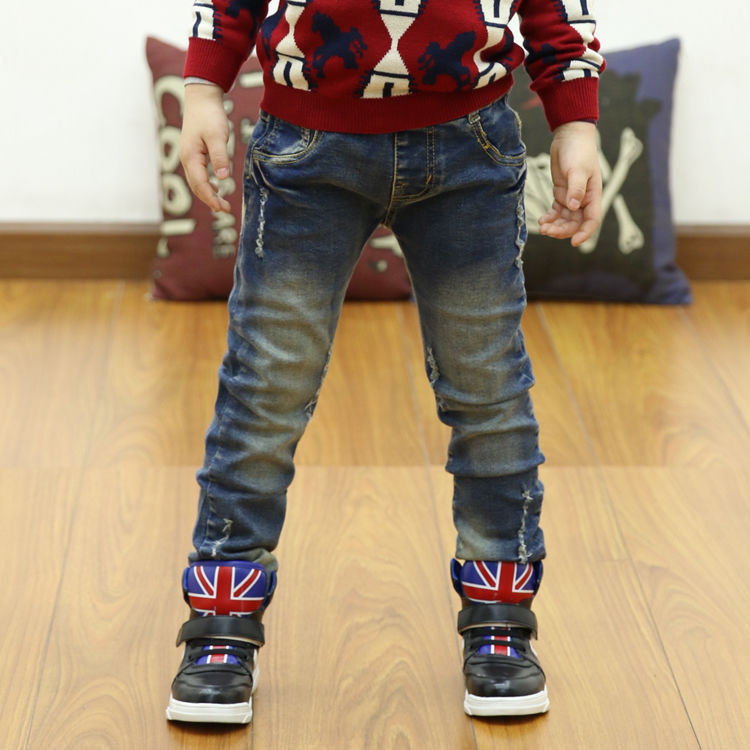 童装男童裤子儿童春秋装2019新小中大童修身小脚牛仔裤长裤男孩潮
