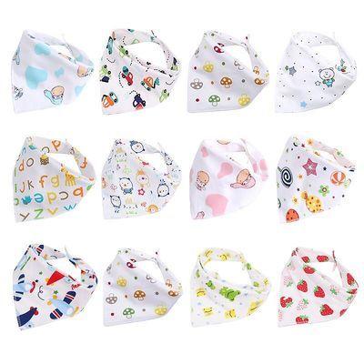 【加大10/5条装】大号小孩新生儿童围嘴婴儿口水巾宝宝纯棉三角巾