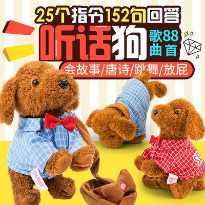 儿童电动毛绒玩具狗狗会听话唱歌跳舞遥控仿真泰迪小狗电子宠物