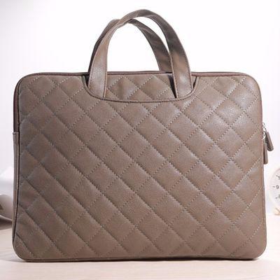 笔记本电脑手提公文包袋联想华硕华为戴尔苹果小米真皮 12345.6寸