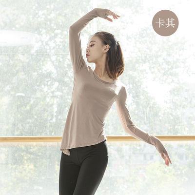 2019新款套手指莫代尔练功服瑜珈现代舞蹈形体上衣学生基训集训服