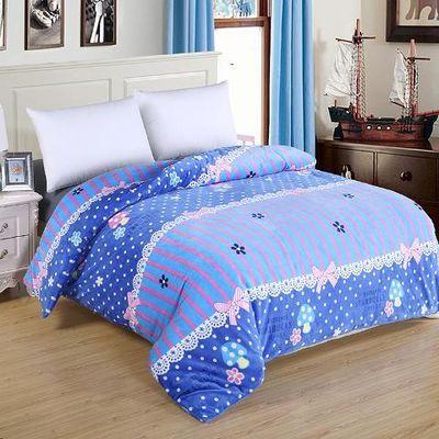 被子四件套绒褥单人毛双面床上窗帘铁架毯裙纯棉防尘罩拉链美容水