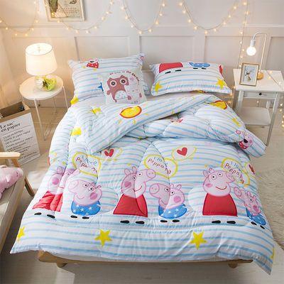 婴儿小被子面可拆洗家纺夏天凉水晶正品蚕丝枕两用纯棉罩布料花散