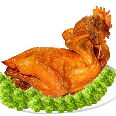 德盛斋德州扒鸡2只装 单只净重450-500g 家庭实惠装 优质童子鸡