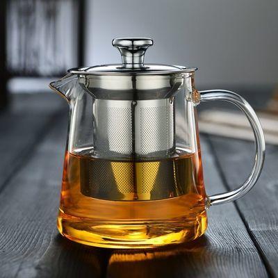 1000ml耐热高温家用玻璃壶小号加厚大容量花茶壶泡茶壶茶具器