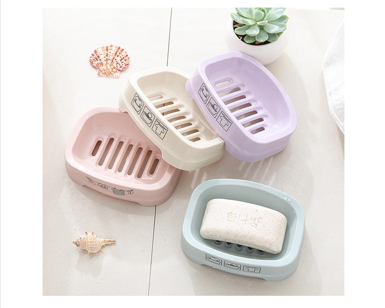 组合装欧式肥皂盒单层沥水卫生间创意香皂盒大号手工皂盒架
