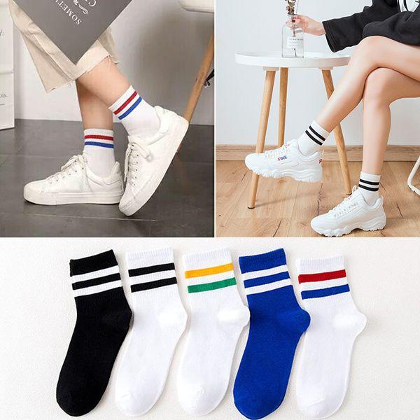 袜子女韩版中筒袜ins潮秋冬季日系学院风二杠女袜可爱百搭长筒袜