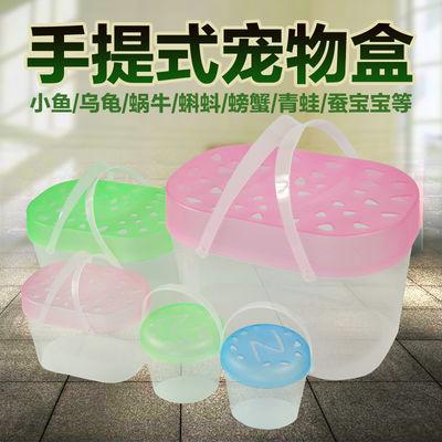 批发宠物饲养盒塑料迷你金鱼缸儿童手提小朋友养乌龟蝌蚪摆地摊用