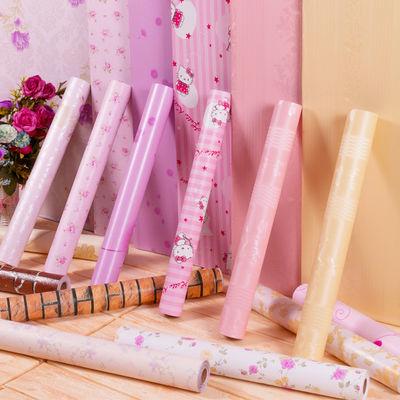 少女心粉色房间墙纸自粘卧室温馨宿舍贴纸ins网红壁纸背景墙贴纸1