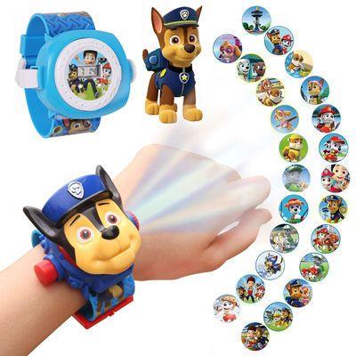 抖音社会人手表小马宝莉儿童卡通玩具电子表汪汪队立大功投影手表