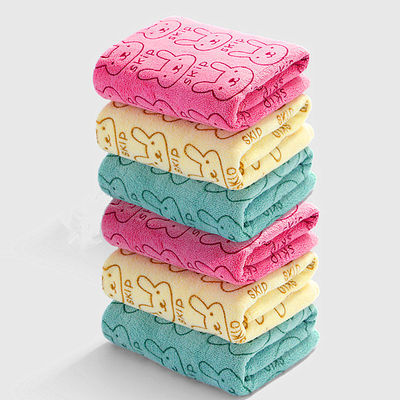 【4条装】超细纤维毛巾洗脸成人 柔软吸水加厚面巾儿童方巾批发