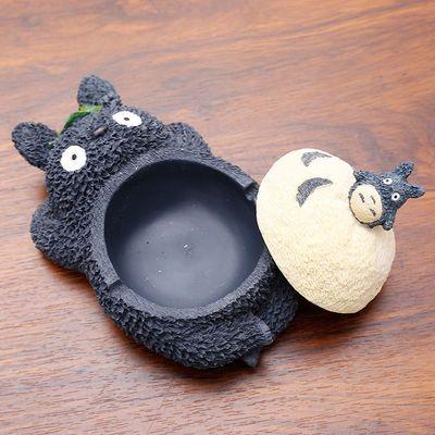 带盖烟灰缸创意防飞灰家用客厅茶几装饰个性摆件可爱潮流卡通烟缸