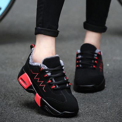 冬季保暖加绒运动鞋女大码41-43宽脚胖脚40妈妈鞋棉鞋东北棉鞋 42