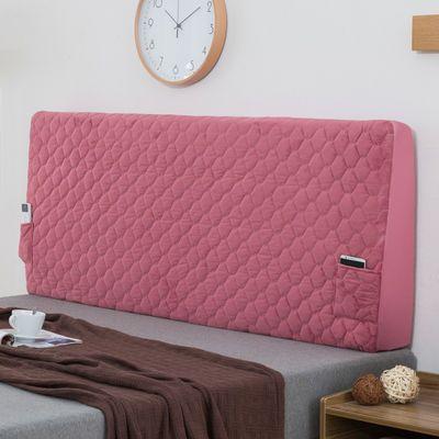 定做丝绸夹棉加棉加厚床头罩软包欧式靠背套1.8m1.5m防尘罩床头套