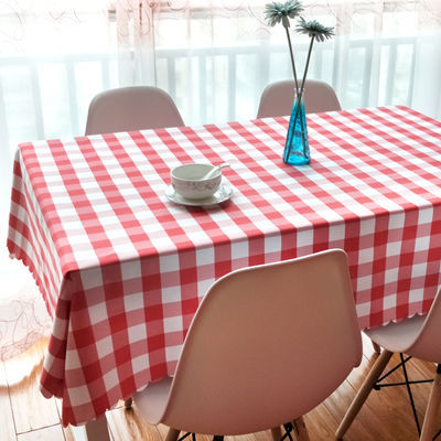 热卖格子桌布长方形小清新田园风美式野餐布酒店西餐厅台布茶几布