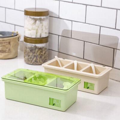 美特家纤竹简约调味盒绿色环保竹纤塑料调味盒厨房用品组合调料盒,免费领取2元拼多多优惠券