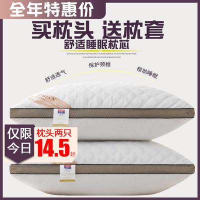 双人枕头送套儿童中家纺七木健康磁疗丝棉填充物真空芯大睡觉床毛