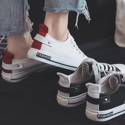 2019新款鞋子女学生韩版社会学院风帆布鞋百搭平底板鞋小白鞋