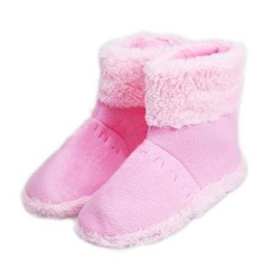 USB保暖鞋/USB保暖靴/USB暖脚宝-女款粉色