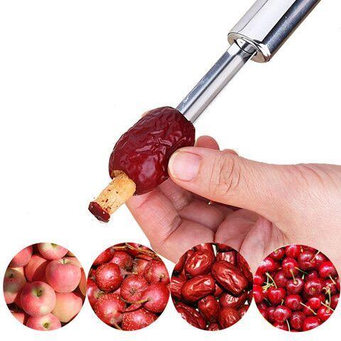 不锈钢山楂去核器红枣去核工具樱桃苹果去籽抽芯器水果厨房用品
