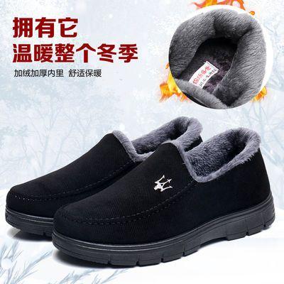 冬季老北京布鞋男棉鞋中老年爸爸鞋保暖男鞋休闲棉鞋加绒防滑棉靴