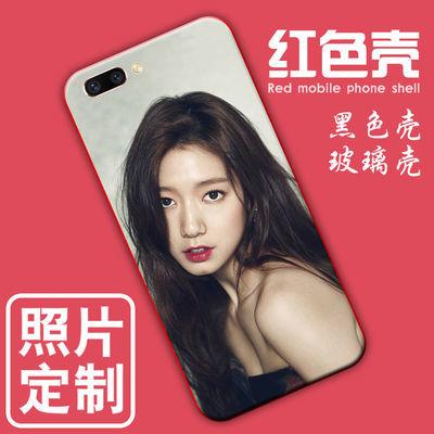 中国红oppoa5手机壳定制女a3红色后盖a1自定义照片制作a7x玻璃diy