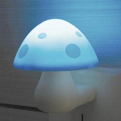 买一送一 蓝瘦香菇小夜灯创意LED光控感应夜光灯卧室婴儿喂奶节能
