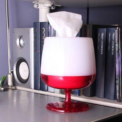 时尚创意红酒杯纸巾抽/纸巾盒 颜色随机