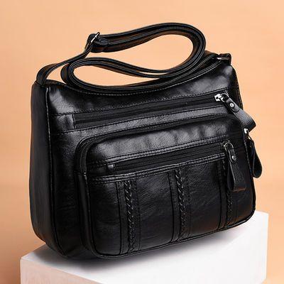 女士包包2020新款潮韩版时尚百搭单肩斜挎女包软皮中年妈妈大容量