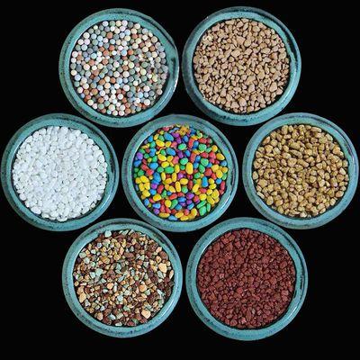 铺面石包邮多肉通用纯颗粒土黄金软麦饭石陶粒彩石子白石子虹彩石