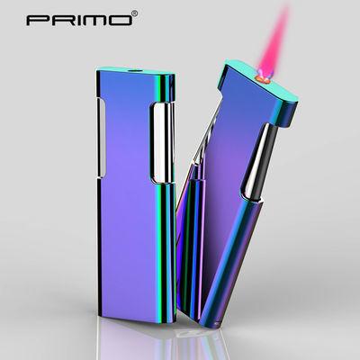 PRIMO创意超薄金属直冲风充气打火机个性送朋友礼物私人定制刻字
