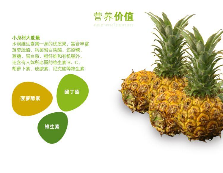 泰国迷你小菠萝香水菠萝香脆甜菠萝小凤梨普吉岛孕妇水果菠萝除味