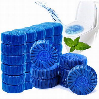 升级版家庭50只装蓝泡泡洁厕宝马桶清洁剂除臭洁厕灵除洗卫生间