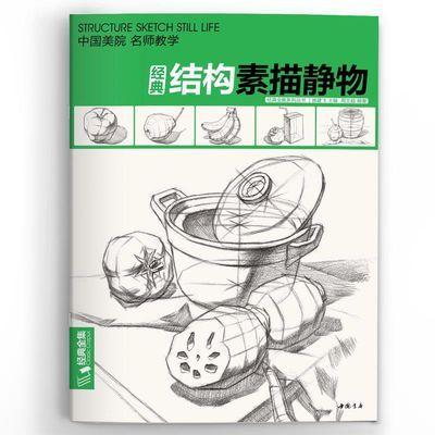 经典全集 素描结构静物组合临摹书籍美术基础技法大八开范本正版