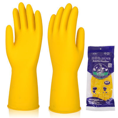 加厚牛筋乳胶手套耐用耐磨橡胶洗碗胶手套防水胶皮塑胶皮手套批发
